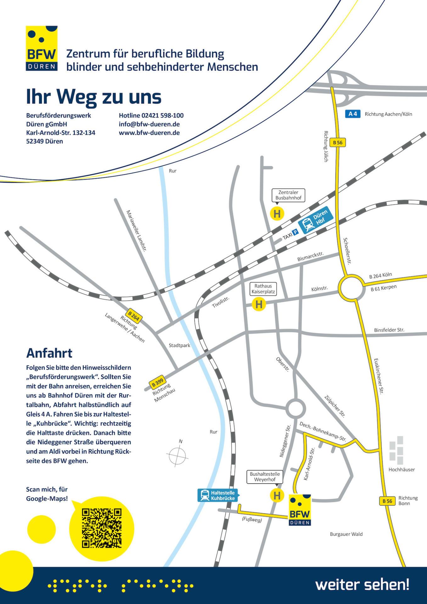 Karte des Standortes und der Gebäude